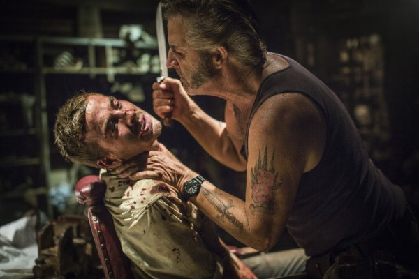 WolfCreek2_John Jarratt as Mick Taylor and Ryan Corr as Paul_Micks torture chamber 7